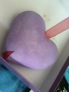 Time for hearts <3 lilac and red pair perfectly.
