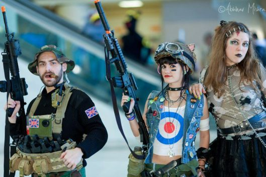 Captain Price, Tank Girl and a Goth