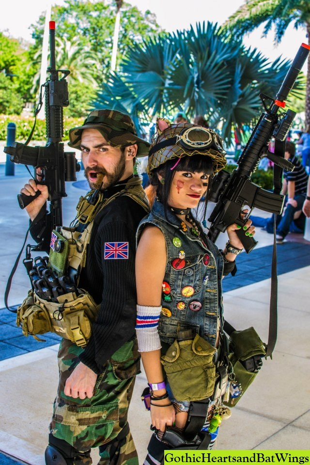 Captain Price and Tank Girl (My friends cosplaying their hearts out)