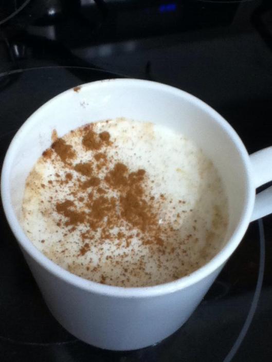 Pumpkin latte finished