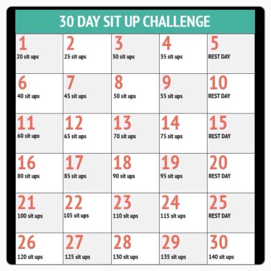 Sit up challenge