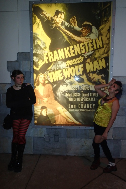 She swoons for Wolf Man and I stand with Frankensteins' Monster. ;)
